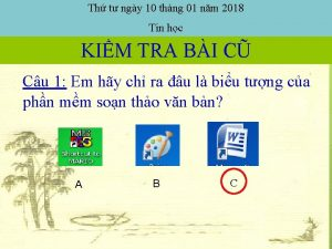 Th t ngy 10 thng 01 nm 2018