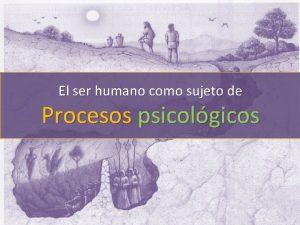 El ser humano como sujeto de Procesos psicolgicos