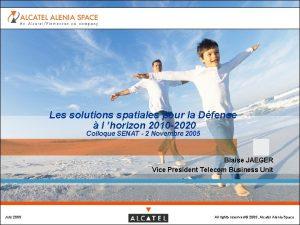 Les solutions spatiales pour la Dfense l horizon