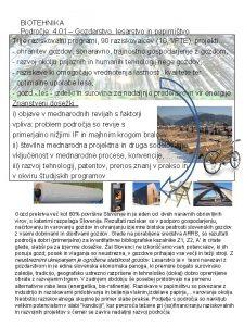 BIOTEHNIKA Podroje 4 01 Gozdarstvo lesarstvo in papirnitvo