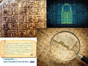 Crittografia nello Scarabeo doro di Poe 1843 Crittologia