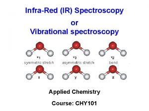 InfraRed IR Spectroscopy or Vibrational spectroscopy Applied Chemistry