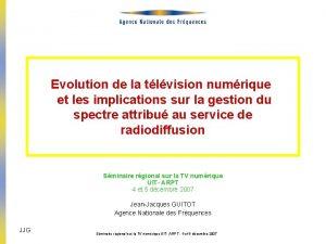 Evolution de la tlvision numrique et les implications