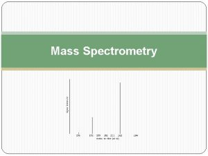 Mass Spectrometry Mass spectrometry technique for measuring the