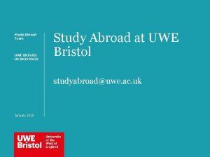 Study Abroad Team UWE BRISTOL UK BRISTOL 02