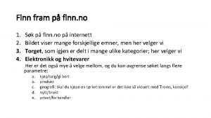 Finn fram p finn no 1 2 3