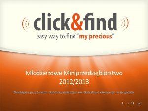 Modzieowe Miniprzedsibiorstwo 20122013 Dziaajce przy Liceum Oglnoksztaccym im