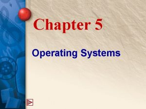 Chapter 5 Operating Systems 5 The Operating System