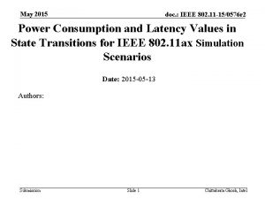 May 2015 doc IEEE 802 11 150576 r