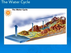 The Water Cycle The Water Cycle THE SUN