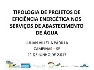 TIPOLOGIA DE PROJETOS DE EFICINCIA ENERGTICA NOS SERVIOS