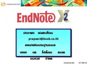 Start End Note Start Programs End Note Program