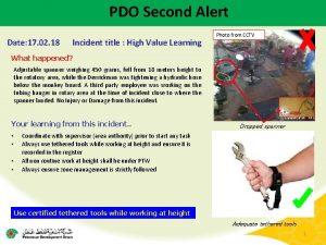 PDO Second Alert Date 17 02 18 Incident