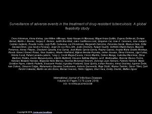 Surveillance of adverse events in the treatment of