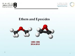 Ethers and Epoxides 1435 1436 2014 2015 1