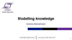Modelling knowledge Antoine Zimmermann 1 Introduction Why modelling