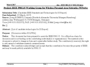 March 2017 doc IEEE 802 15 17 0211