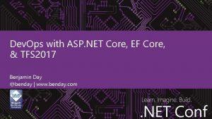 Dev Ops with ASP NET Core EF Core