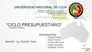 UNIVERSIDAD NACIONAL DE LOJA REA JURDICA SOCIAL Y