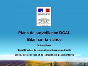 Plans de surveillance DGAL Bilan sur la viande