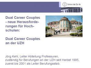 Dual Career Couples neue Herausforderungen fr Hochschulen Dual