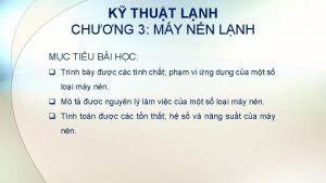 K THUT LNH CHNG 3 MY NN LNH