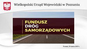 Pozna 20 marca 2019 r Fundusz Drg Samorzdowych