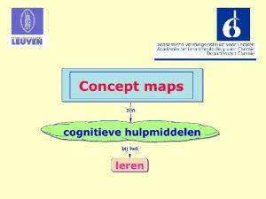 Gebruik van concept maps door leerkrachten wordt gestimuleerd