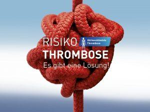 Informationen zu Venenthrombose und Lungenembolie Dr Max Mustermann