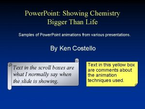 Power Point Showing Chemistry Bigger Than Life Samples