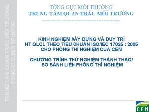 TRUNG T M QUAN TRC MI TRNG TNG