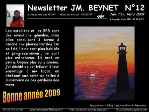 Newsletter JM BEYNET N 12 artistepeintre cot AKOUN