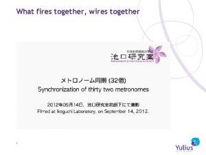 What fires together wires together 1 Kwetsbaar ouderschap