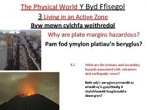 The Physical World Y Byd Ffisegol 3 Living