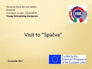 Osnovna kola Bartola Kaia Vinkovci Erasmus project 2016