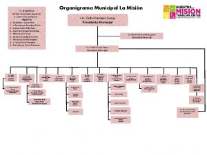 Organigrama Municipal La Misin H Asamblea Sindico Procurador