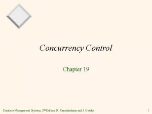 Concurrency Control Chapter 19 Database Management Systems 2