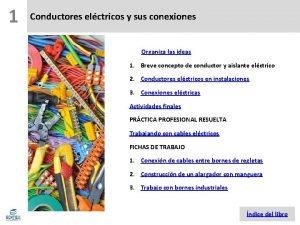 1 Conductores elctricos y sus conexiones Organiza las