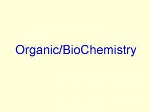 OrganicBio Chemistry Inorganic vs Organic Inorganic chemistry compound