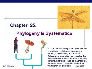 Chapter 25 Phylogeny Systematics AP Biology An unexpected