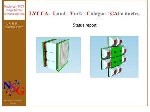 LYCCA Lund York Cologne CAlorimeter LUND UN I