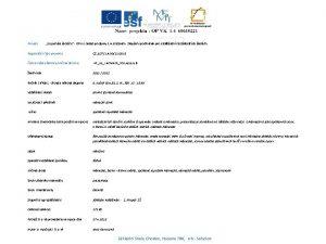 Projekt EU penze kolm OP VK oblast podpory
