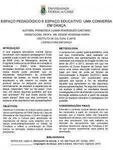 ESPAO PEDAGGICO E ESPAO EDUCATIVO UMA CONVERSA EM