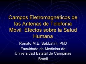 Campos Eletromagnticos de las Antenas de Telefonia Mvil