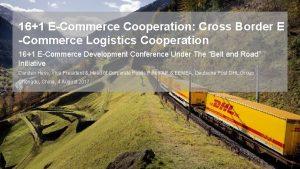 161 ECommerce Cooperation Cross Border E Commerce Logistics