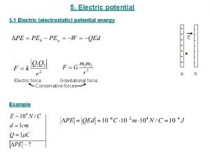 5 Electric potential 5 1 Electric electrostatic potential