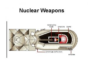 Nuclear Weapons Nuclear Weapons INTRODUCTION Nuclear weapons are