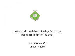 Lesson 4 Rubber Bridge Scoring pages 455 456
