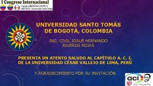 UNIVERSIDAD SANTO TOMS DE BOGOT COLOMBIA ING CIVIL