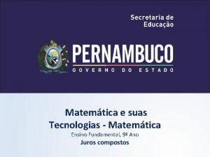 Matemtica e suas Tecnologias Matemtica Ensino Fundamental 9